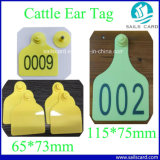 2018 Hot Sale 73*65mm Ear Tag ID pour les Bovins Porcs Tracking