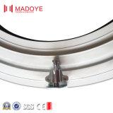 Finestra rotonda di vetro di alluminio con un rotolamento di 180 gradi