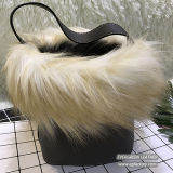 Nuovo sacchetto di spalla della ragazza della signora Bag Woman Bucket Bag della pelliccia di disegno 2017 dalla fabbrica Sh190 della Cina