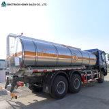 Sinotruk HOWO 6X4 10の荷車引きオイルの石油の燃料タンクのトラック