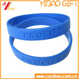Braccialetto su ordinazione del silicone di marchio di Dobossed per il regalo promozionale