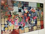 8 футов x 10 фута красивый букет чистый шелк восточные персидский ковер ручной работы