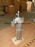 Cárter del filtro de bolso del acero inoxidable de la categoría alimenticia