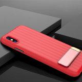 El soporte práctico la luz y teléfono delgado caso para el iPhone x