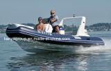 Liya 17pieds bateau gonflable rigide en fibre de verre avec moteur hors-bord