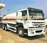 o caminhão de combustível 20000L, caminhão do petróleo, reabastece o caminhão, caminhão do transporte de petroleiro do petróleo