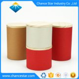 Kundenspezifisches rundes Pappgefäß mit hölzerner Kappe