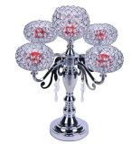 Boda flor artificial jarrones de vidrio de alta decoración central