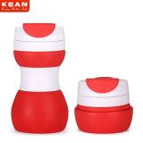 Costomized billig wasserundurchlässiger zusammenklappbarer Arbeitsweg-mehrfachverwendbare Kaffeetasse mit Kappe