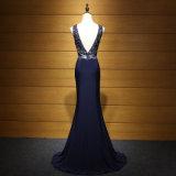 Синие v подпирают отбортовывать платье вечера Mermaid