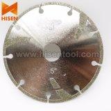 het 125mm Gegalvaniseerde Blad van de Zaag van de Diamant voor Mables, Zachte Stenen