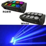 8X10W RGBWのナイトクラブのためのフルカラーの傾きの動きLEDのくもライト