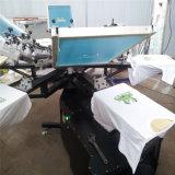 6つのカラースクリーン乾燥器及び音楽プレーヤーが付いている手動スクリーンの印刷機