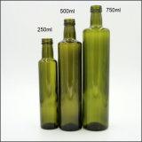 アウトレットDorica深緑色のガラスBotlleのオリーブ油のびん
