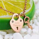 Namen de Zeer belangrijke Juwelen van de Deur van de liefde voor altijd toe de Gouden Tegenhanger van de Halsband van het Roestvrij staal
