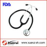 Alliage de zinc tête simple stéthoscope médical avec la FDA a approuvé