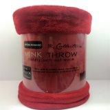 Manovella europea tinta normale solida 100% del panno morbido di Raschel di stile di colore della coperta 1ply del visone del poliestere