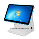 """Icp E8600dl3 Windows7 POS 시스템 또는 슈퍼마켓 또는 대중음식점 또는 소매 (15.6 """" +15.6 """"를 위한 두 배 전기 용량 접촉 스크린 금전 등록기)"""