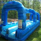 Corrediça de água dobro inflável gigante da pista para adultos e miúdos