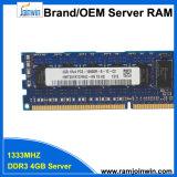 Зарегистрированные Однорядные*4 PC3-10600R 4 ГБ оперативной памяти DDR3 для серверов
