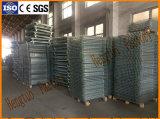 De Kooi van de Pallet van het Netwerk van de Draad van het staal voor de Opslag van het Pakhuis met Gietmachines