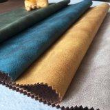 솔질한 우단 실내 장식품 직물이 100%Polyester에 의하여 뜨개질을 했다