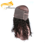 Do cabelo indiano do templo de Remy do Virgin Frontal natural do laço da onda