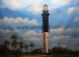 Luz americano artesanais House Paisagem pinturas a óleo