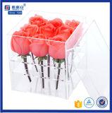 中国の製造業者によってカスタマイズされるロゴのアクリルの花の収納箱