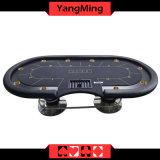 Kasino-Texas-Schürhaken-Platten-passen ovaler Fuss-Wert-Nutzen-Texas-Schürhaken-Tisch mit Spieler 10 das Spielen an (YM-TB018)