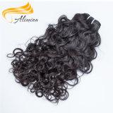 Onda peruana do cabelo humano da extensão de trama dobro do cabelo humano
