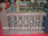 Granit marron/rouge poli balustrade pour Balcon/terrasse