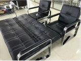 최신 판매 주식 1+1+3에 있는 스테인리스 프레임 소파 베드를 가진 고아한 호텔 의자 사무실 가죽 소파