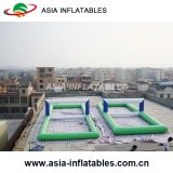 Corte de voleibol inflável da água, passo inflável do voleibol, campo inflável do voleibol