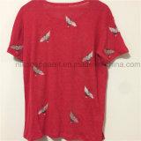 리넨 t-셔츠 전면 2018마리 여름에 의하여 주문을 받아서 만들어지는 새