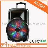 Heißer Verkaufs-gute Qualitätslaufkatze-Lautsprecher mit Bluetooth Funktion und drahtloser Mic für Karaoke /Outdoor 15 Zoll