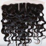 Frontal шнурка волос 13X4 Remy волны бразильский с волосами младенца