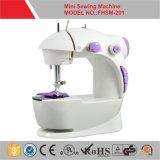 Mini máquina de coser eléctrica Fhsm-201 con dos velocidades