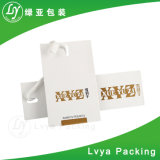 Изготовленный на заказ Hangtag бумаги с покрытием экспорта высокого качества