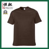 T-shirt 100% ordinaire de bleu de ciel de coton en gros d'hommes