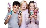 아이들을%s 2017마리의 다채로운 전자 애완 동물 핑거 원숭이 크리스마스 선물 작은 물고기