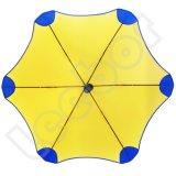 開いたアルミニウムマニュアルおよび近い抵抗の風のまっすぐな傘