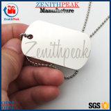 Liga de zinco personalizada gravada em esmalte Prata Tag de cão