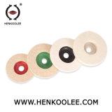 La alta calidad 100% lana de Vidrio duro de la rueda de fieltro de lana pulido