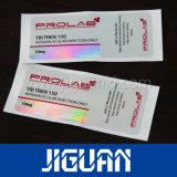 Diseño libre de alta calidad de 10ml vial personalizada del holograma etiqueta