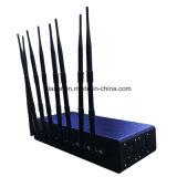 8CH 80W Tischplattenenergie justierbares VHF, UHF, WiFi mobiler Signal-Hemmer