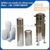 産業水処理の浄化のための100%のステンレス鋼の水のバッグフィルタハウジング