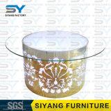 Tabella pranzante di vetro stabilita della tavola rotonda della Tabella pranzante della mobilia del LED