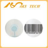 Etiqueta redonda da segurança do código de barras da etiqueta 8.2MHz do sistema RF da loja de jóia EAS