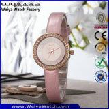Orologi su ordinazione delle signore di modo della vigilanza del quarzo di marchio di marca (WY-090E)